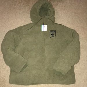 Puma big sean puffer jacket olive sz M MENS